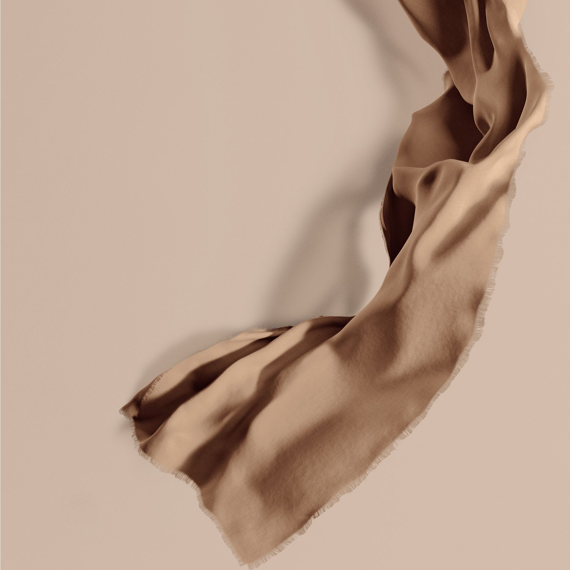 The Lightweight Cashmere Scarf in Camel - gallery image 1