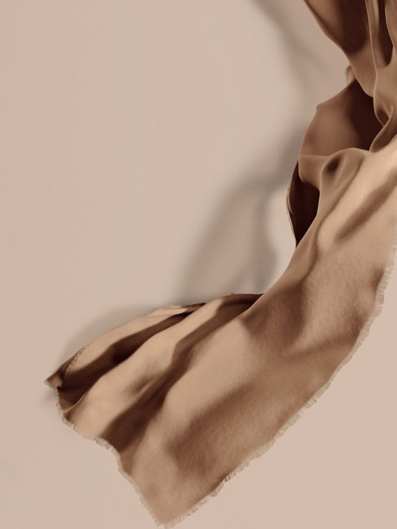 The Lightweight Cashmere Scarf in Camel | Burberry