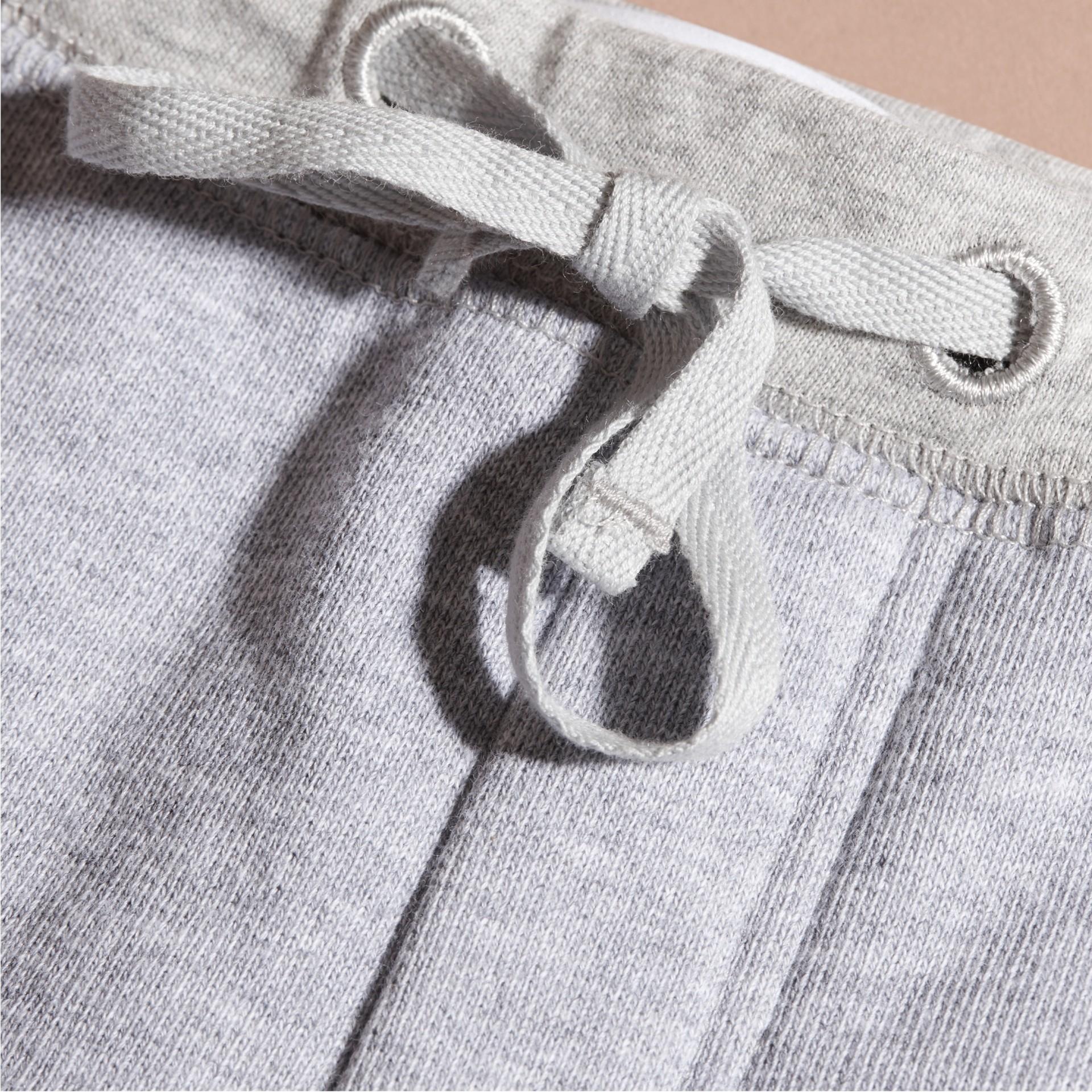 Grigio medio mélange Pantaloni tuta in cotone Grigio Medio Mélange - immagine della galleria 2