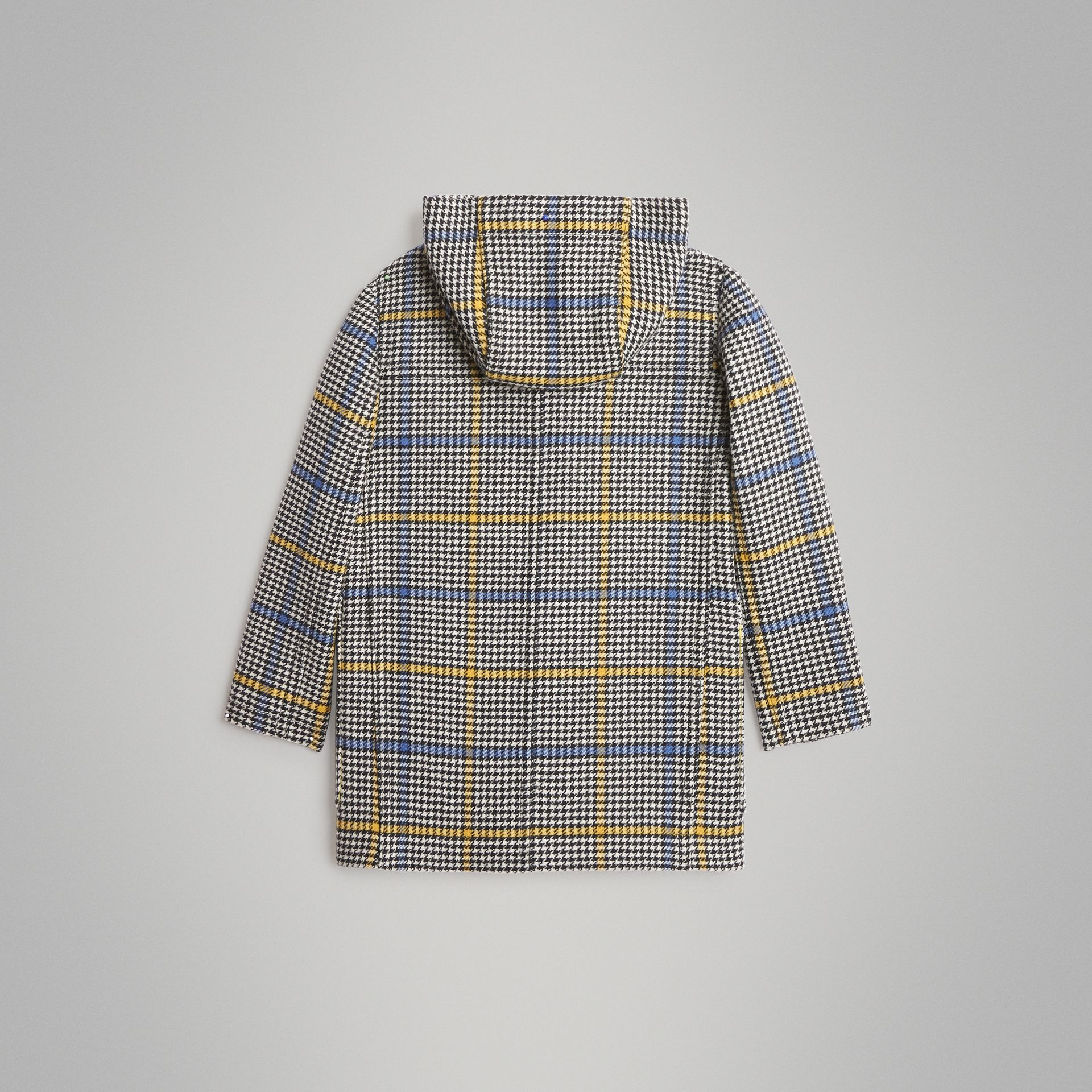 Houndstooth Check Wool Cashmere Duffle Coat in Parchment | Burberry Singapore - gallery image 3