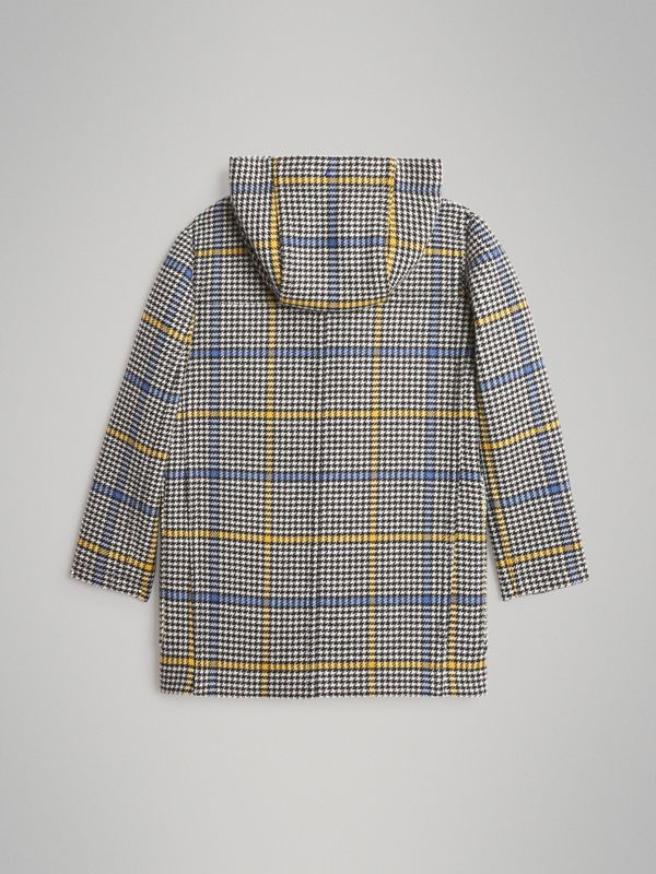Houndstooth Check Wool Cashmere Duffle Coat in Parchment | Burberry Singapore - cell image 3