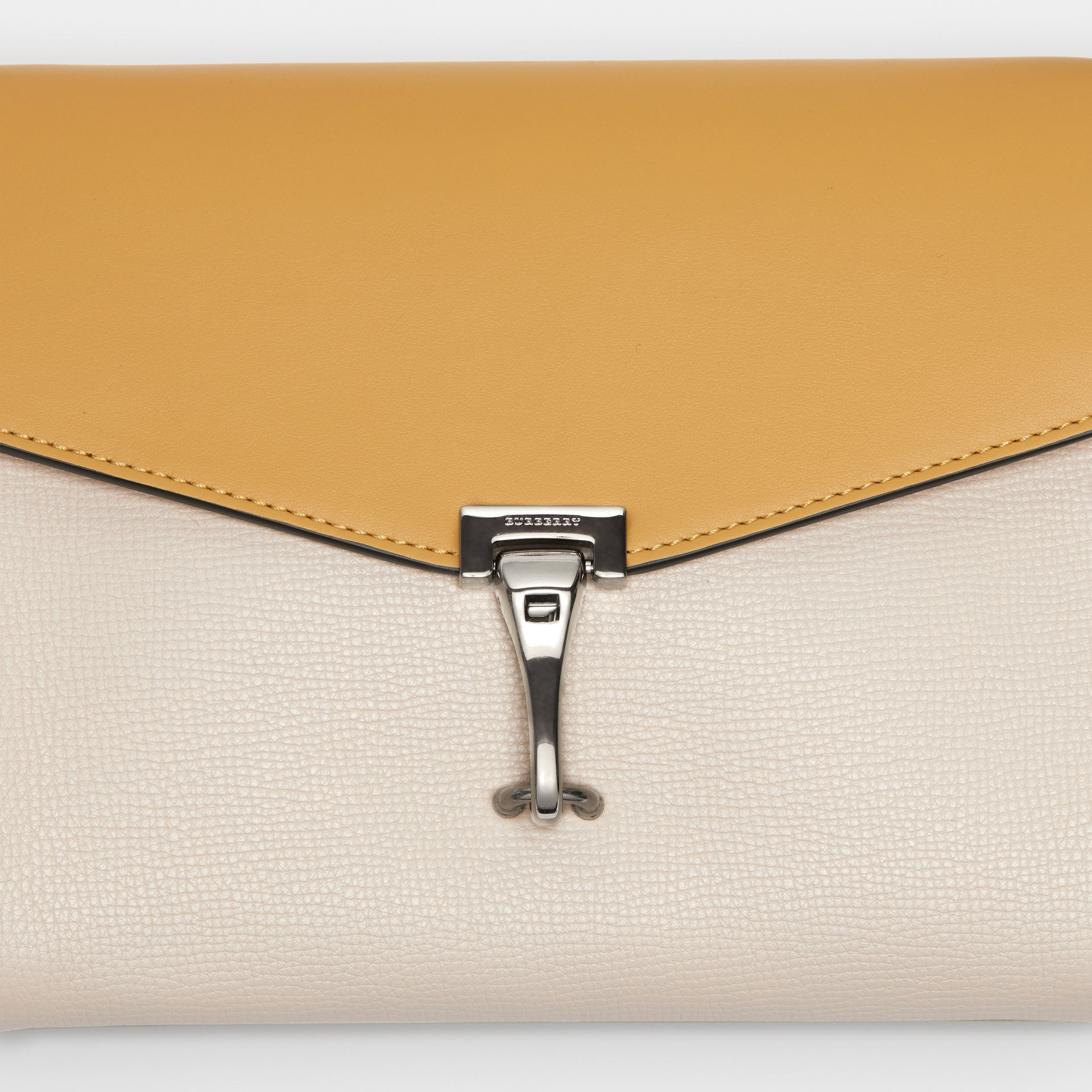 Two-tone Leather Crossbody Bag in Limestone/cornflower Yellow - Women | Burberry United Kingdom - gallery image 1
