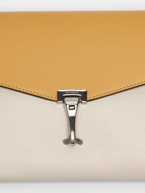 Two-tone Leather Crossbody Bag in Limestone/cornflower Yellow - Women | Burberry United Kingdom - cell image 1