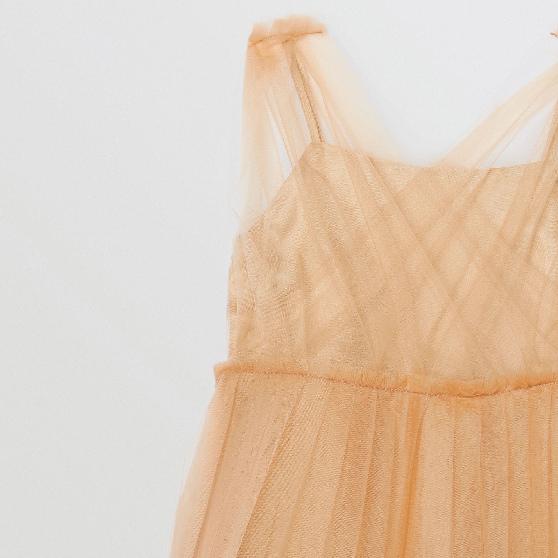 Tulle Tiered Dress in Oyster Beige - Children | Burberry - gallery image 4