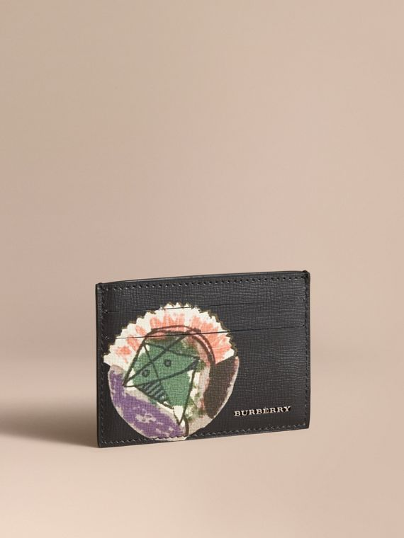 Pallas Heads Print Leather Card Case