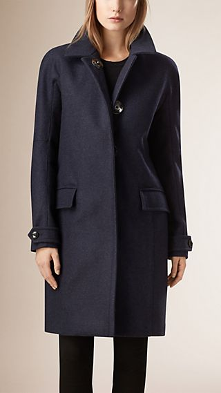 Technical Wool Cashmere Coat