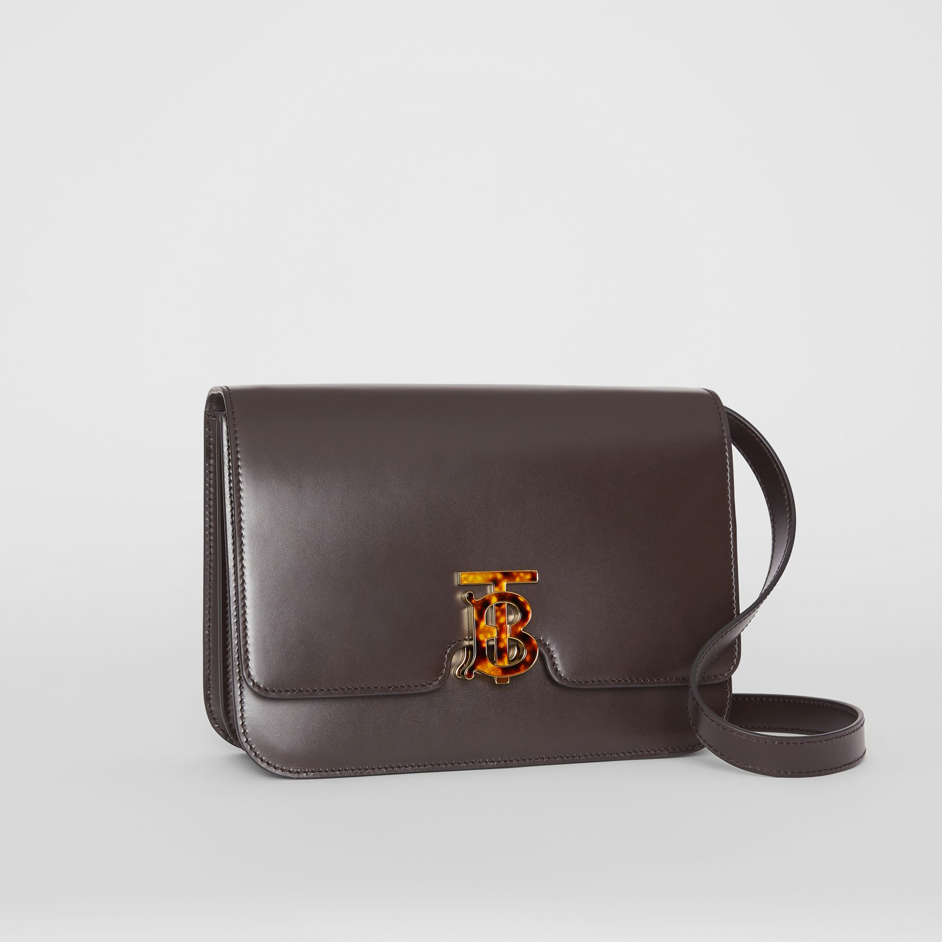 Medium Leather TB Bag in Coffee - Women | Burberry - gallery image 6