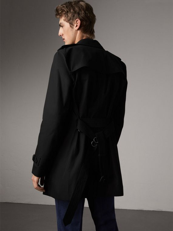The Kensington – Mid-Length Heritage Trench Coat in Black - Men | Burberry - cell image 2