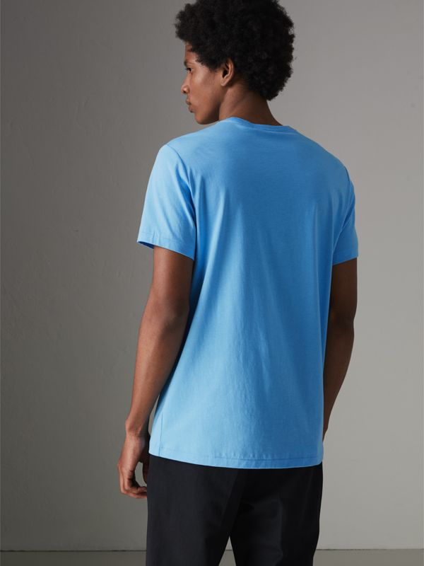 Cotton Jersey T-shirt in Blue Topaz - Men | Burberry Canada - cell image 2