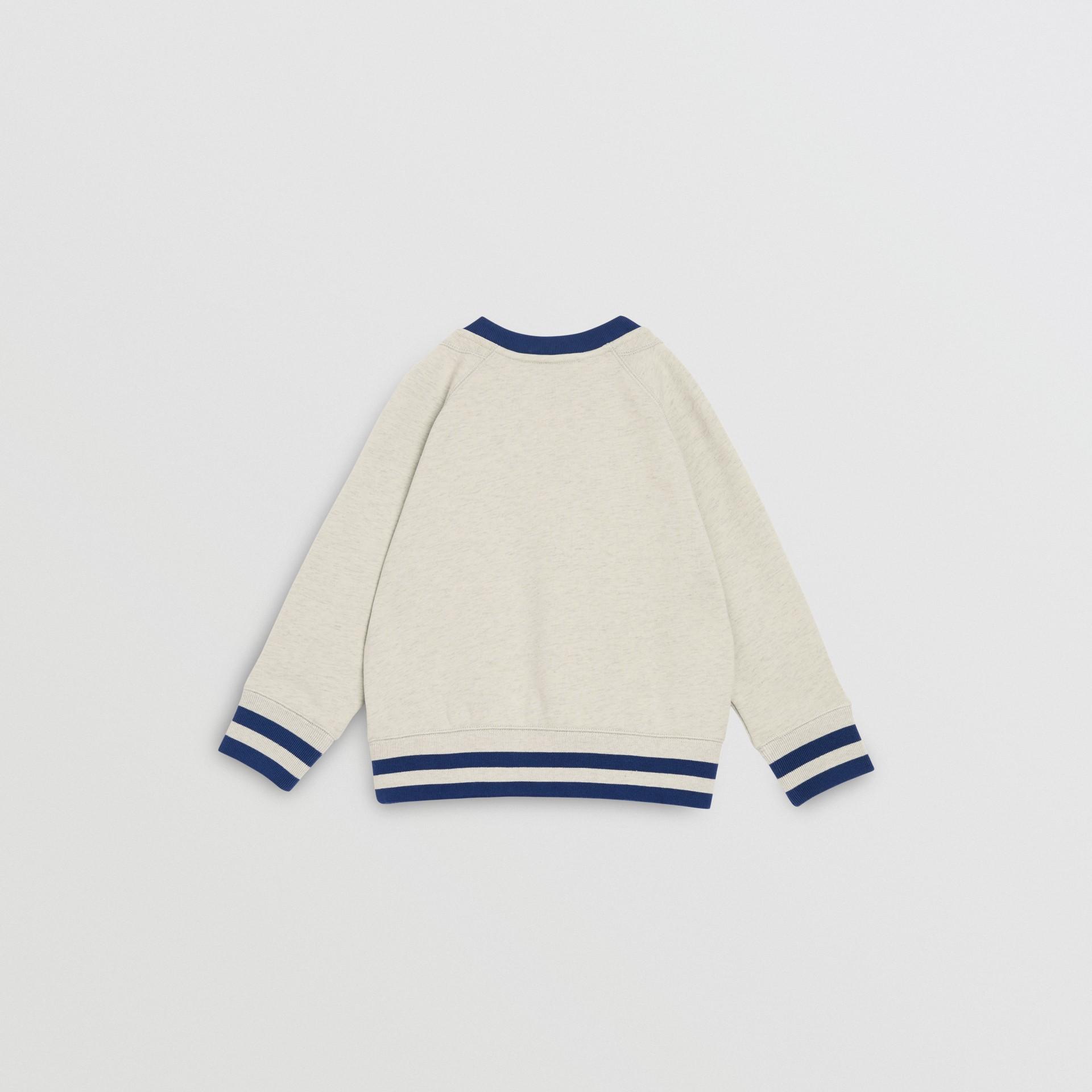Check Appliqué Cotton Sweatshirt in Multicolour | Burberry - gallery image 3