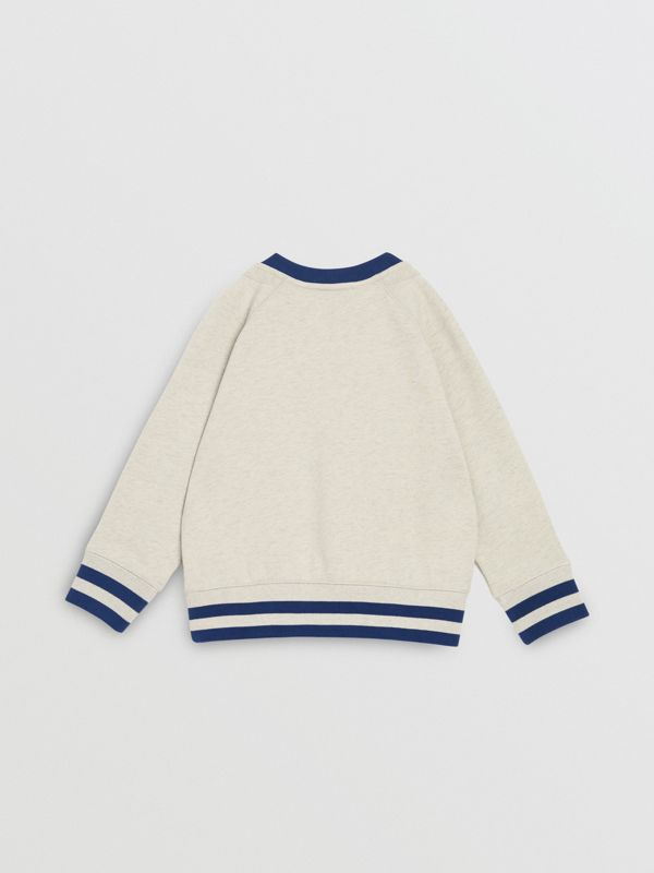 Check Appliqué Cotton Sweatshirt in Multicolour | Burberry - cell image 3