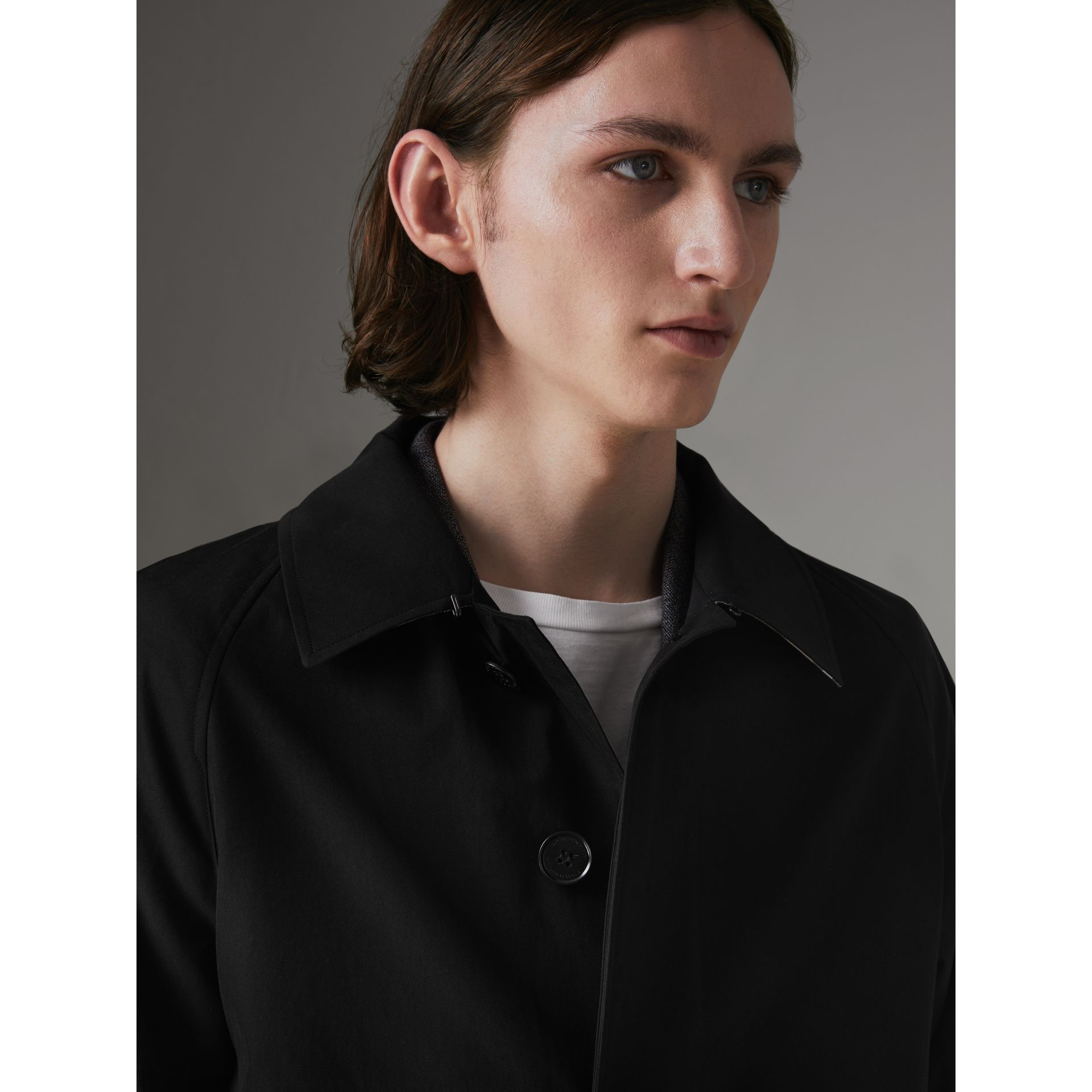 The Camden Car Coat in Black - Men | Burberry - gallery image 4