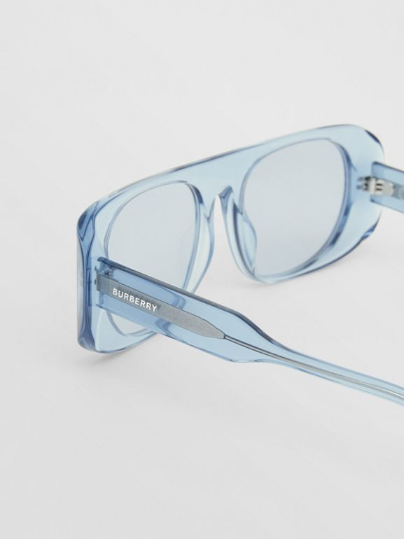 Blake Sunglasses in Transparent Blue | Burberry - cell image 1