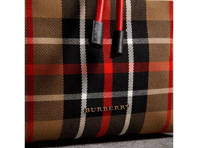 The Medium Rucksack in Check Cotton in Caramel - Women | Burberry - cell image 1