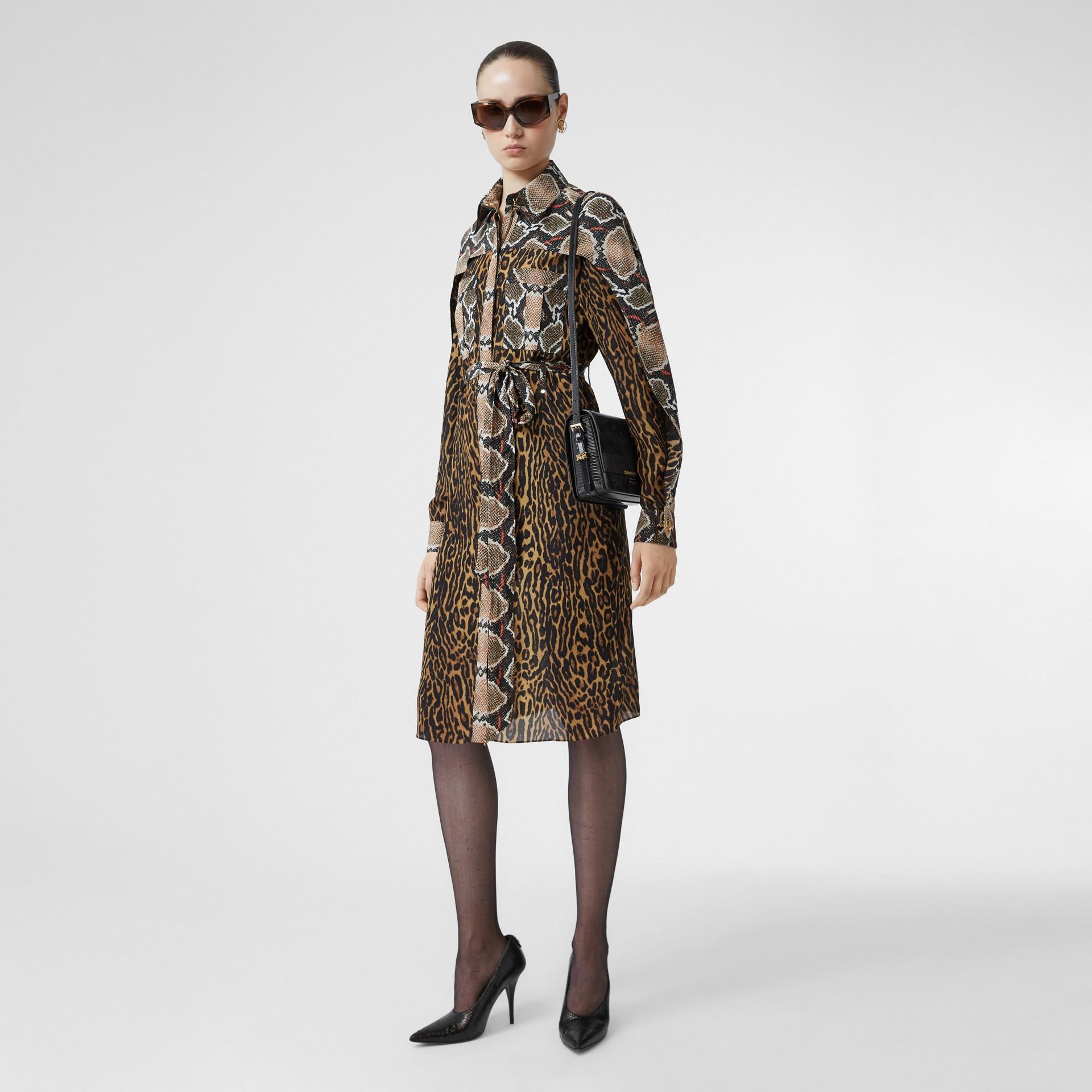 Petit sac Grace en cuir de cerf et cuir velours (Noir) - Femme | Burberry - photo de la galerie 5
