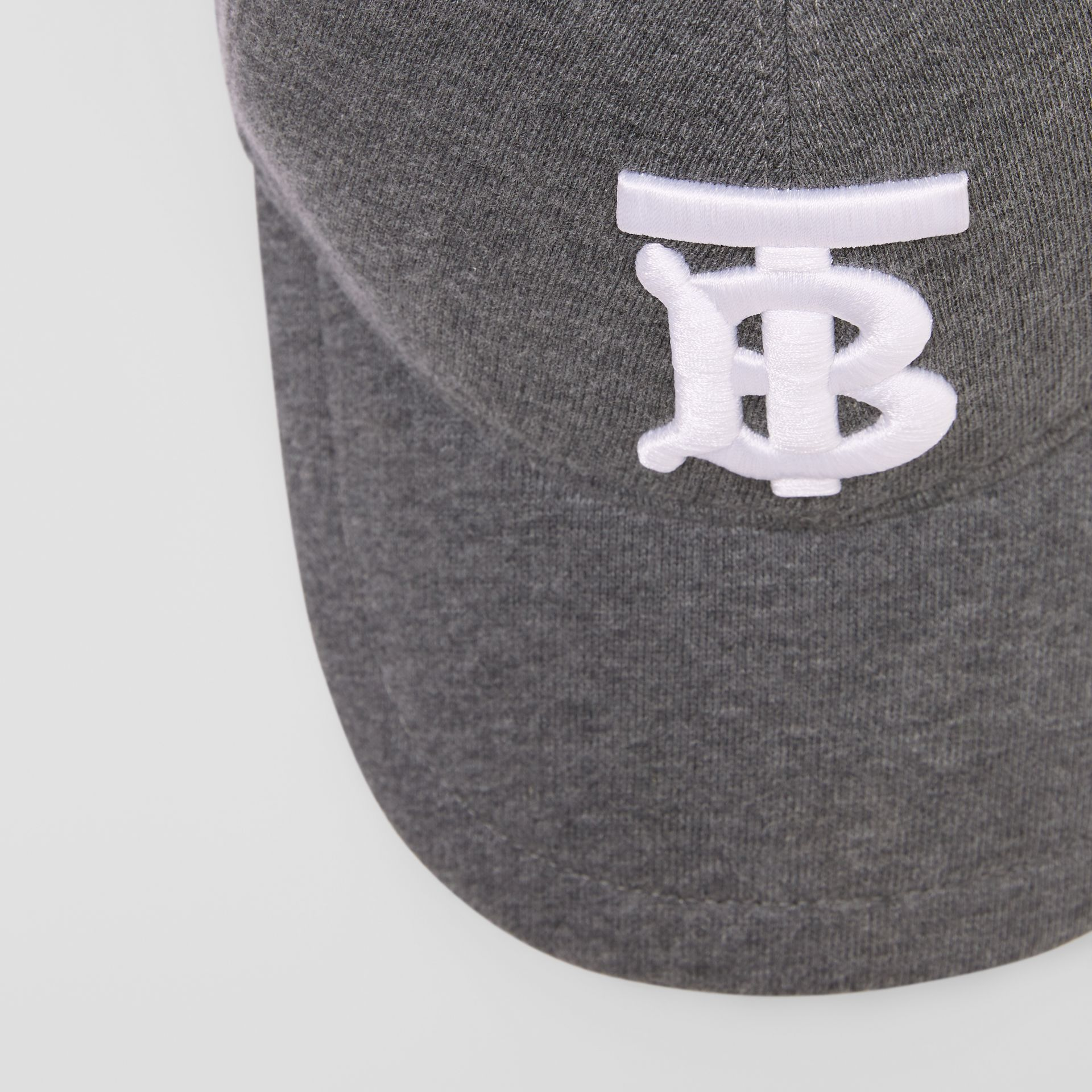Monogram Motif Jersey Baseball Cap in Dark Charcoal | Burberry - gallery image 1