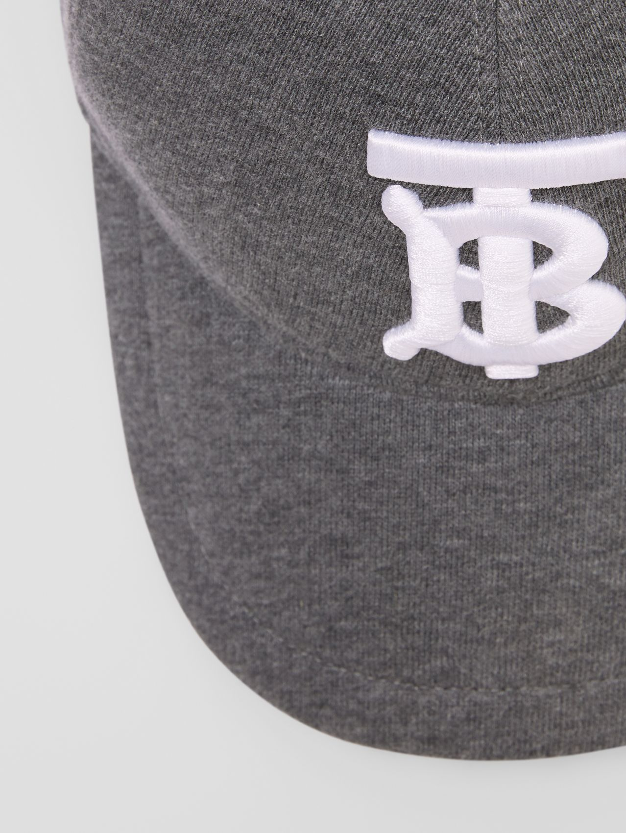 Monogram Motif Jersey Baseball Cap in Dark Charcoal