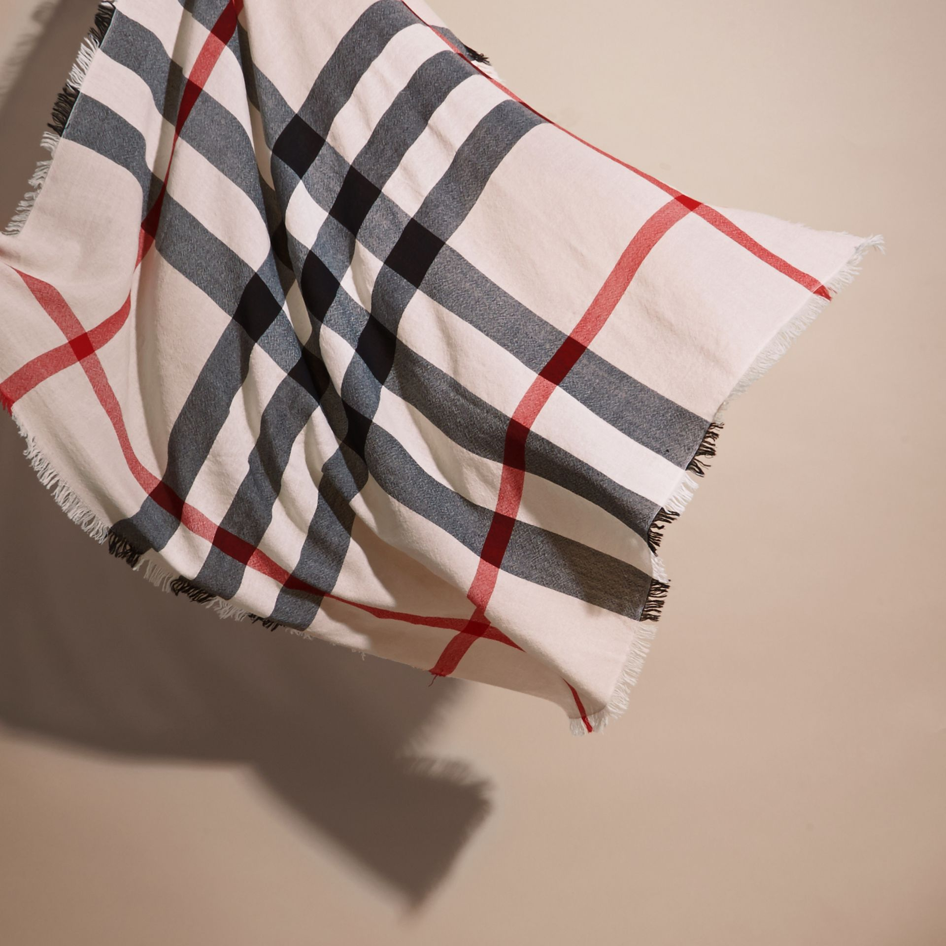 Check Merino Wool Square - Large | Burberry - gallery image 3