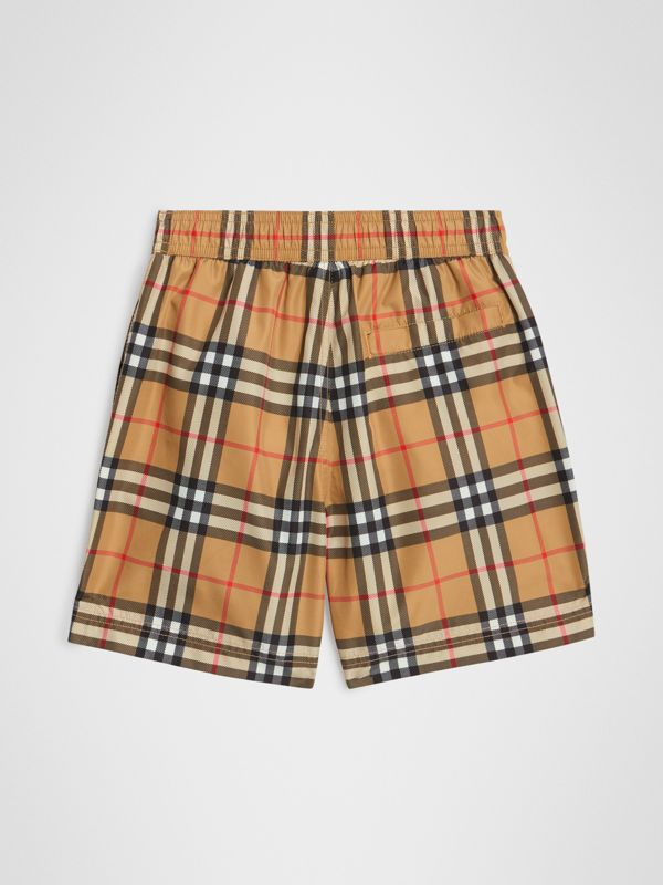 Vintage Check Swim Shorts in Antique Yellow - Boy | Burberry Canada - cell image 3