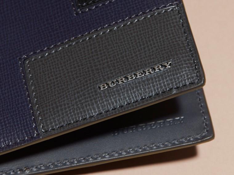 Dark navy Colour Block London Leather Folding Wallet Dark Navy - cell image 1