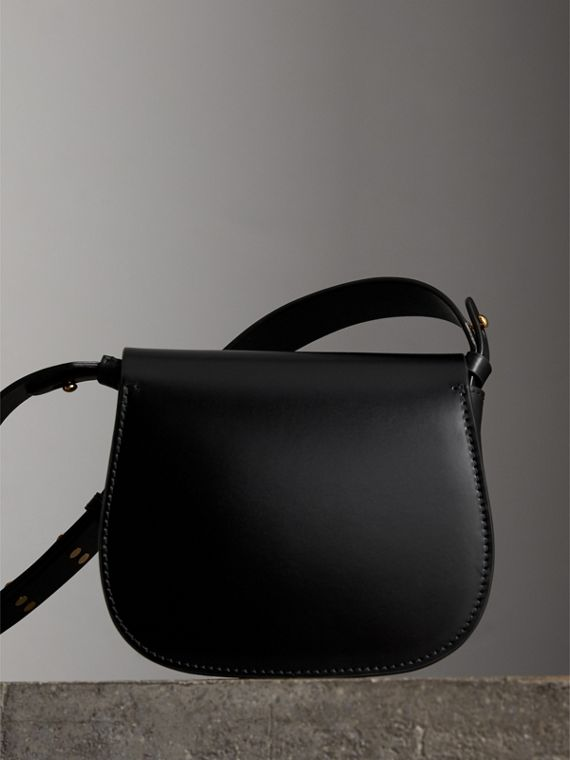 The Satchel in Bridle Leather in Black - Women | Burberry Australia - cell image 2