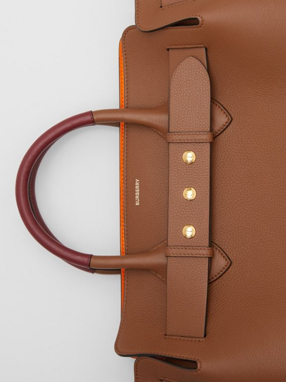 The Medium Leather Triple Stud Belt Bag in Tan - Women | Burberry United Kingdom - cell image 1