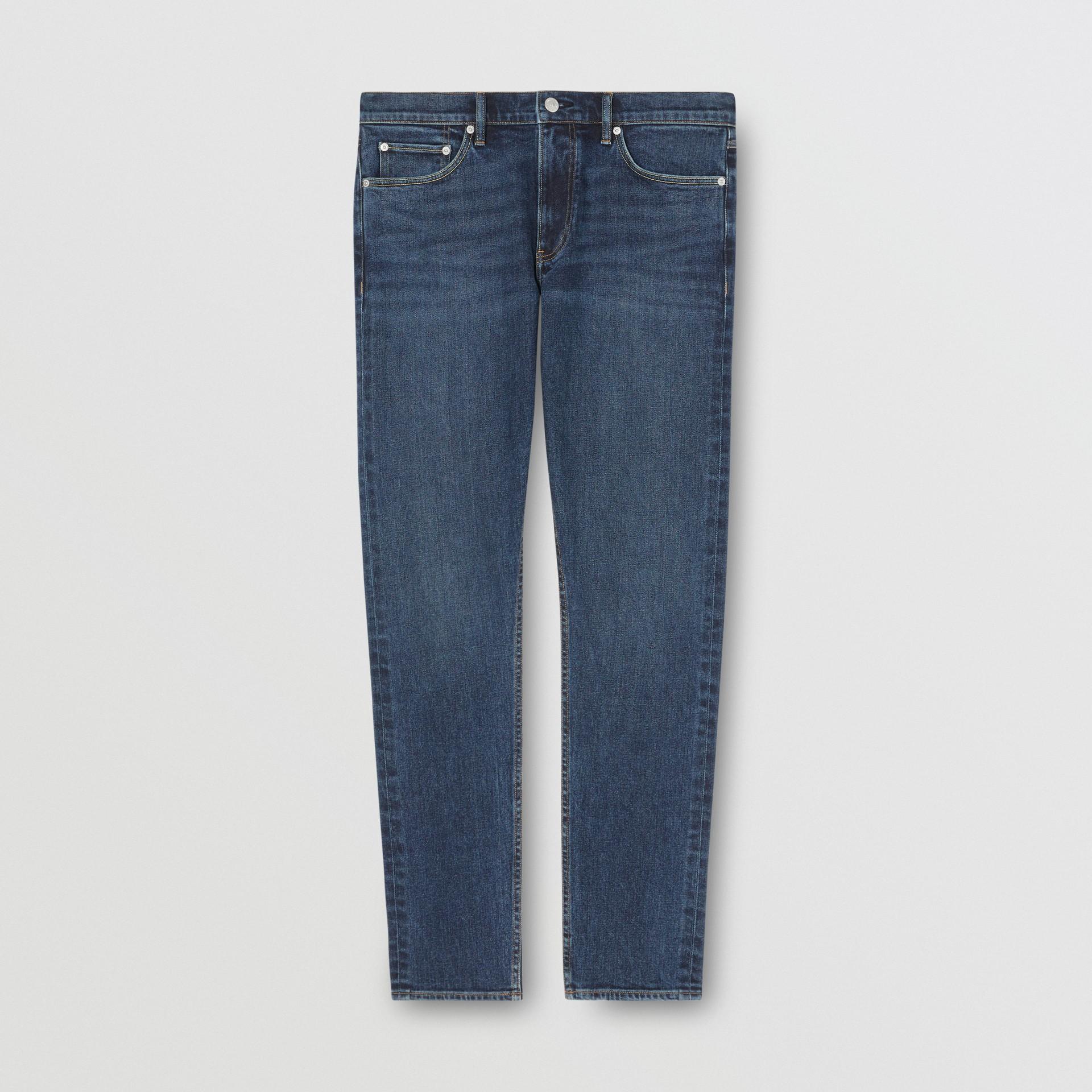 Slim Fit Washed Denim Jeans in Dark Indigo - Men   Burberry - gallery image 3