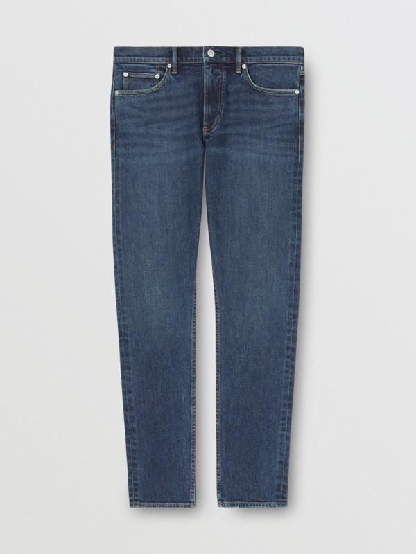 Slim Fit Washed Denim Jeans in Dark Indigo - Men   Burberry - cell image 3