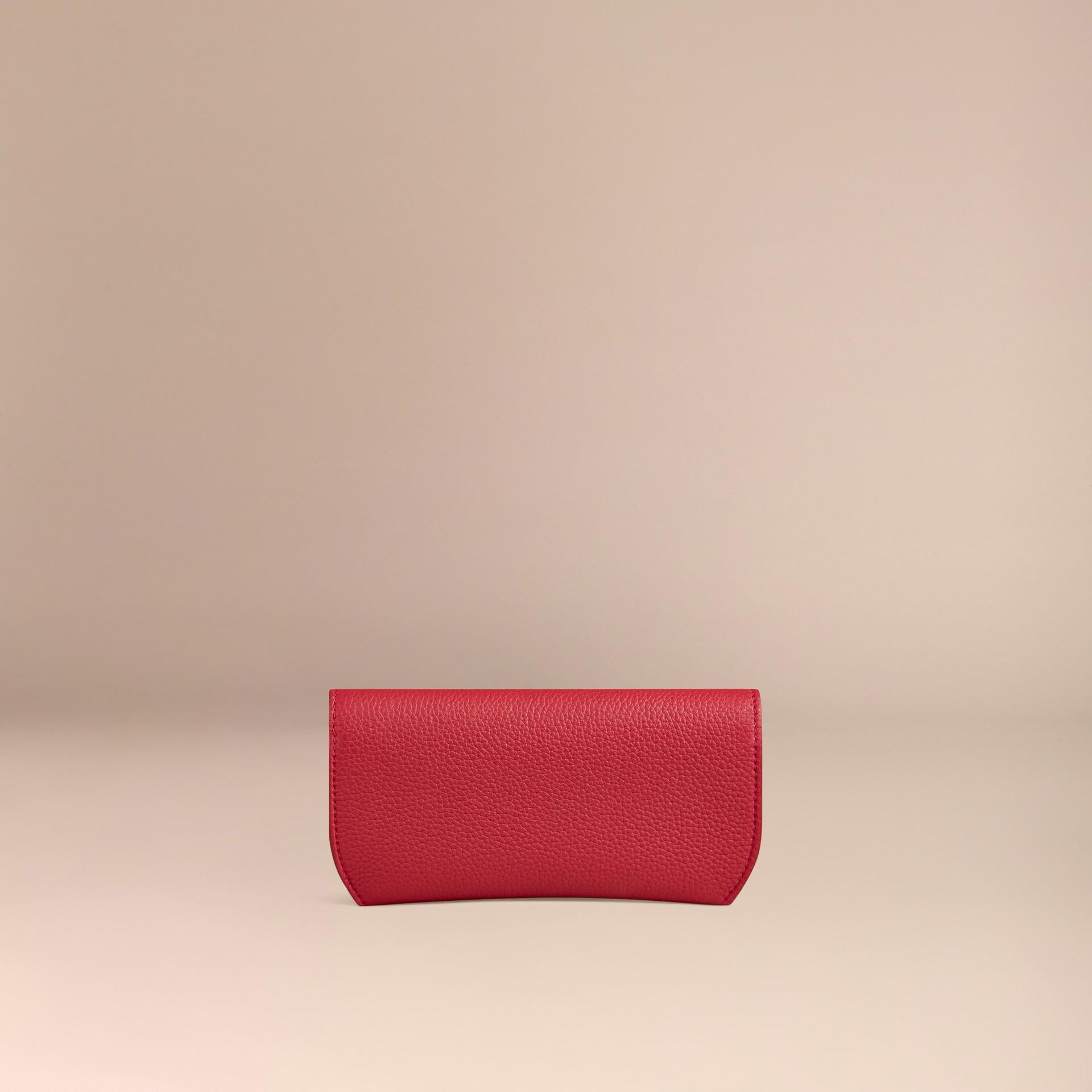 Rosso parata Custodia per occhiali in pelle a grana Rosso Parata - immagine della galleria 3