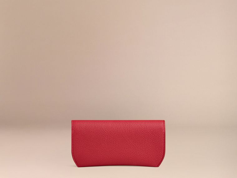 Parade red Grainy Leather Eyewear Case Parade Red - cell image 2