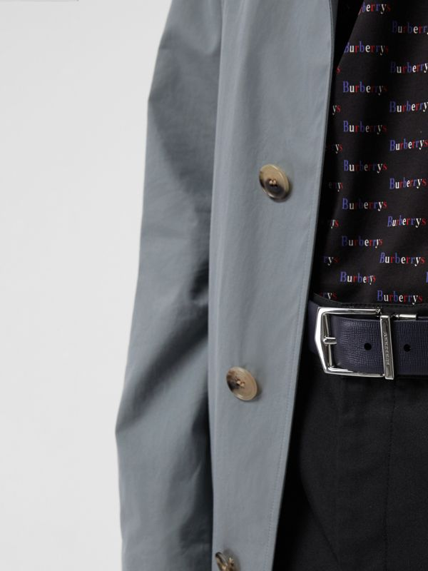 Reversible London Leather Belt in Dark Navy/black - Men | Burberry - cell image 3