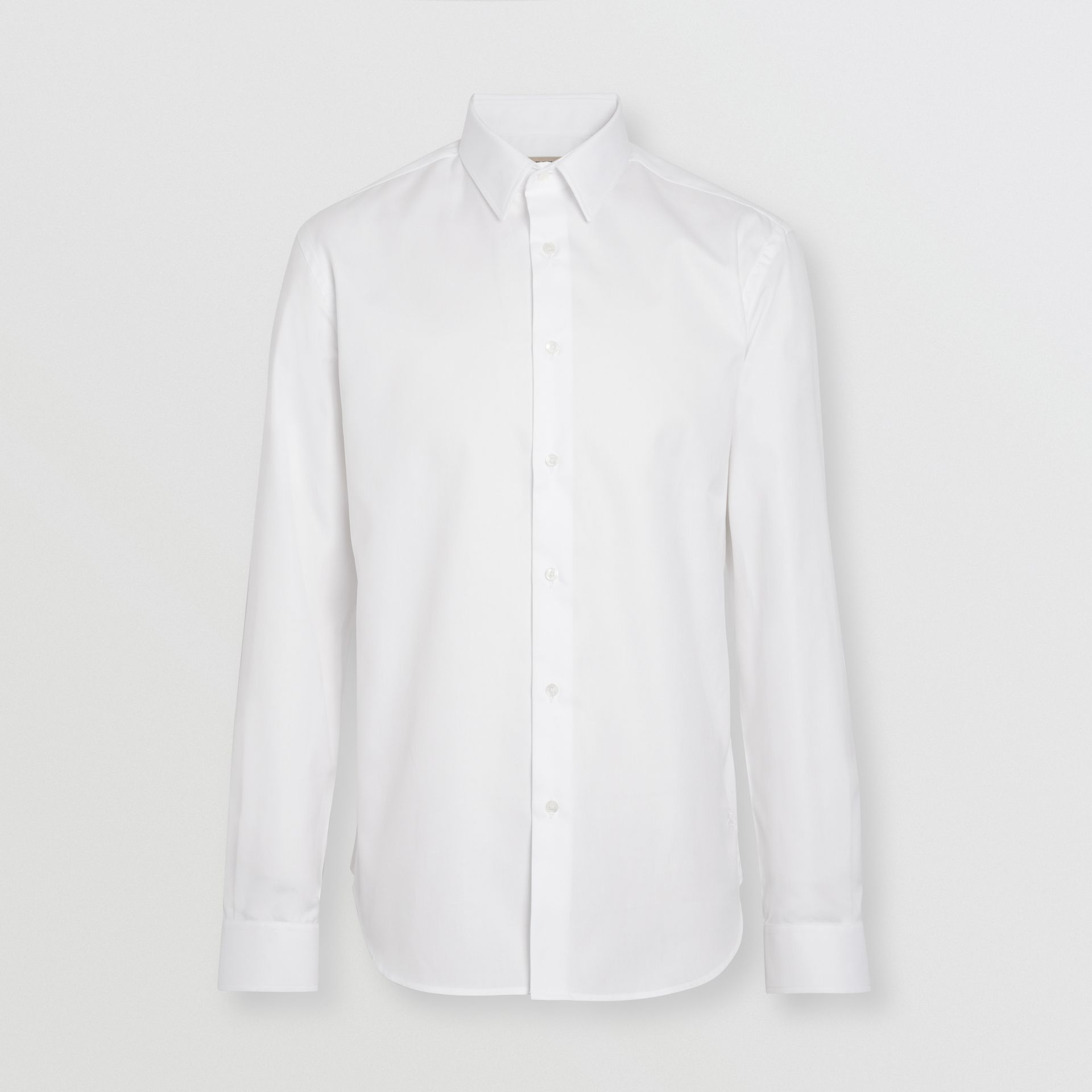 Modern Fit Cotton Shirt in White - Men | Burberry Singapore - gallery image 3