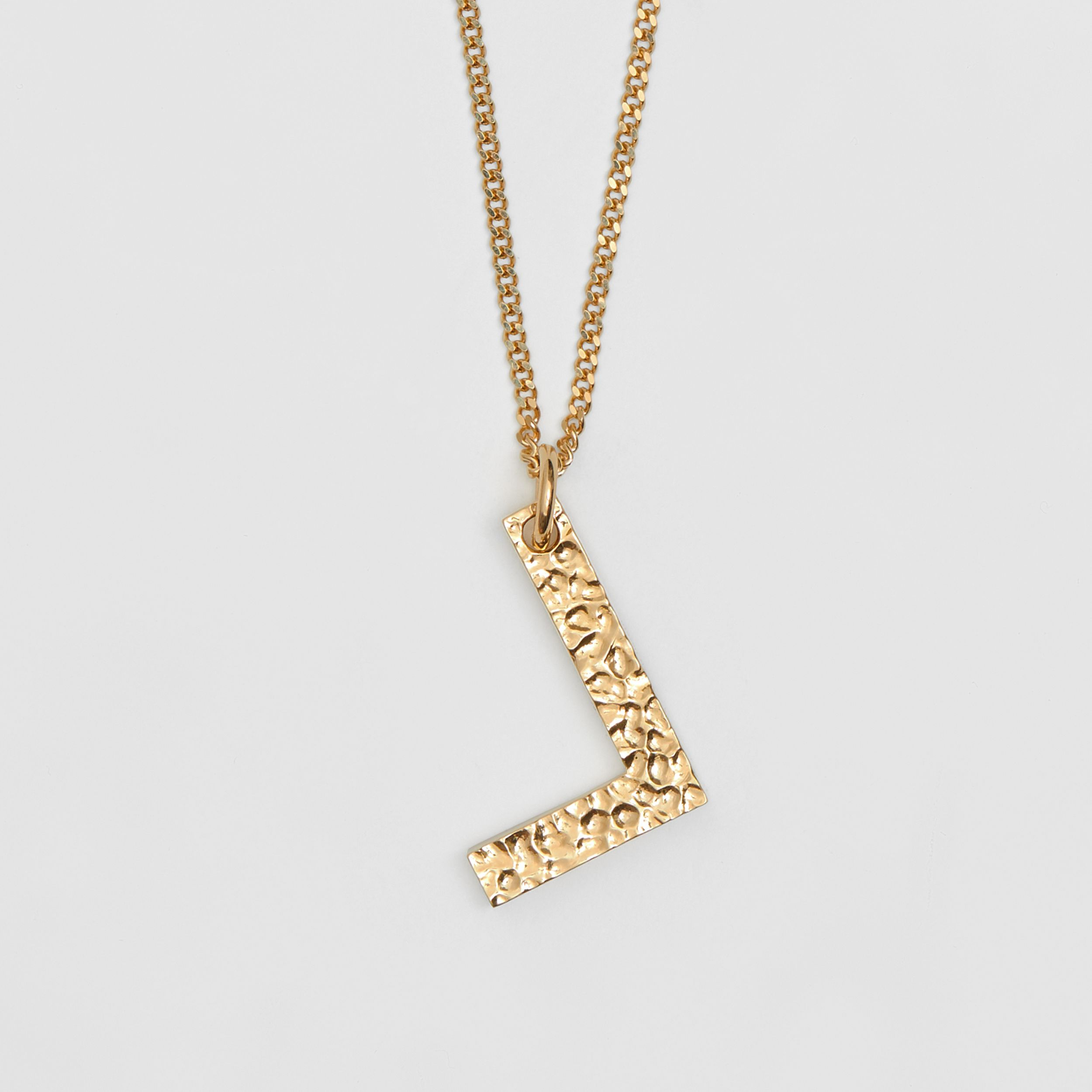 'L' Alphabet Charm Gold-plated Necklace in Light - Women | Burberry - 3