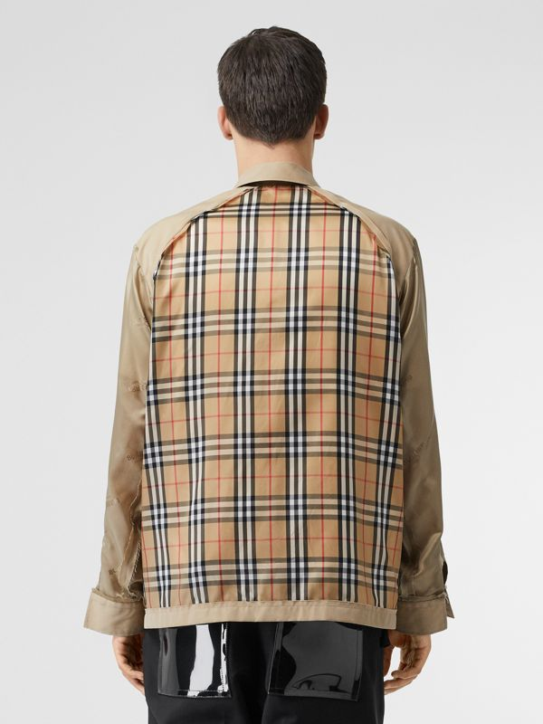 Seam Detail Vintage Check Shirt in Archive Beige - Men   Burberry United States - cell image 2