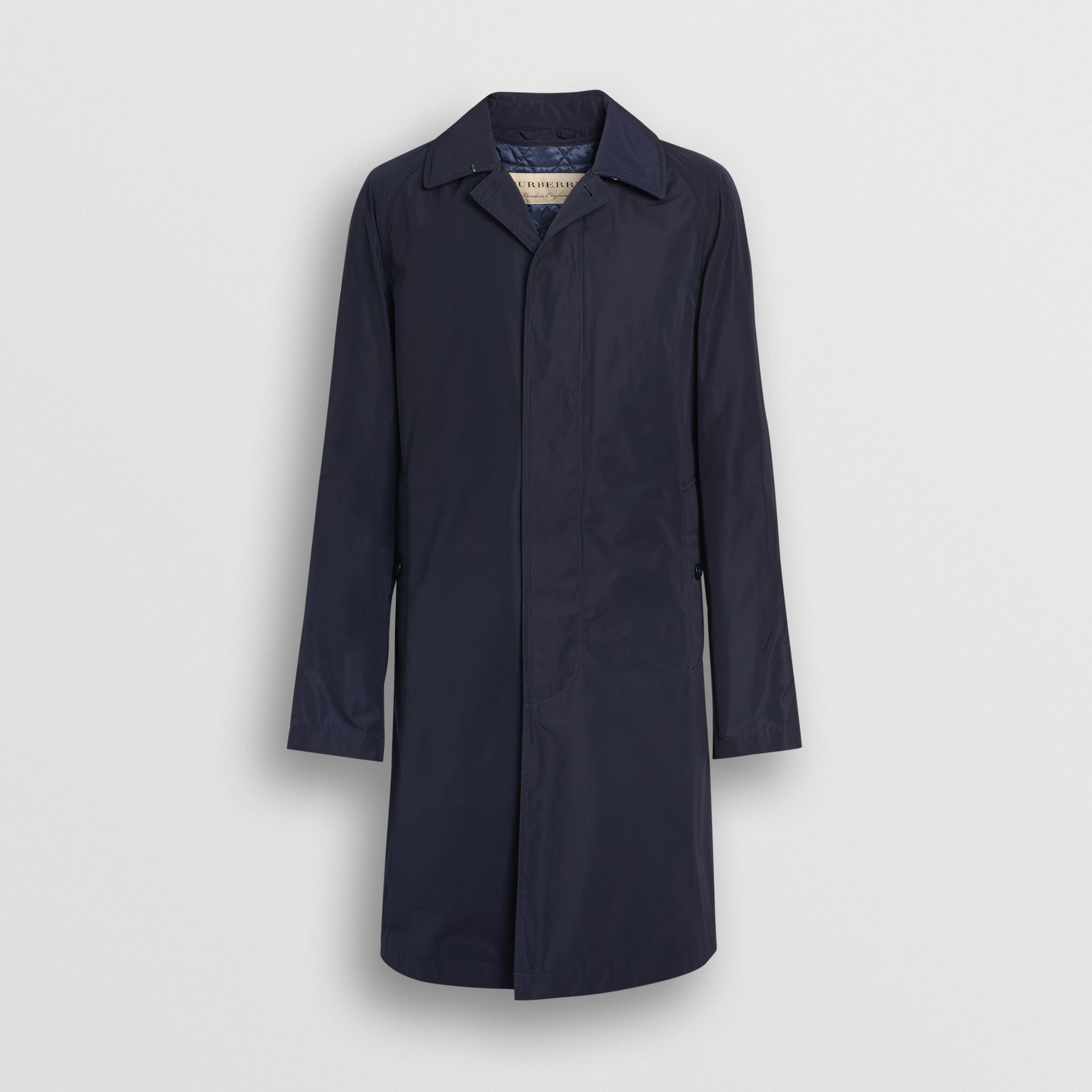 Shape-memory Taffeta Car Coat in Navy - Men | Burberry United Kingdom - gallery image 3