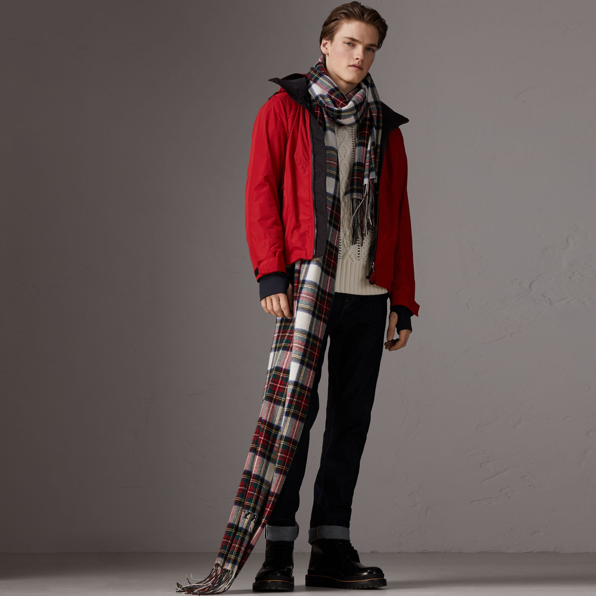 Packaway Hood Shape-memory Taffeta Jacket in Military Red - Men | Burberry - gallery image 0