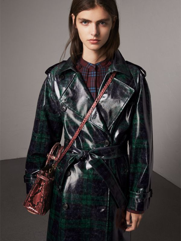 The Small Banner in Python in Peony - Women | Burberry Canada - cell image 2