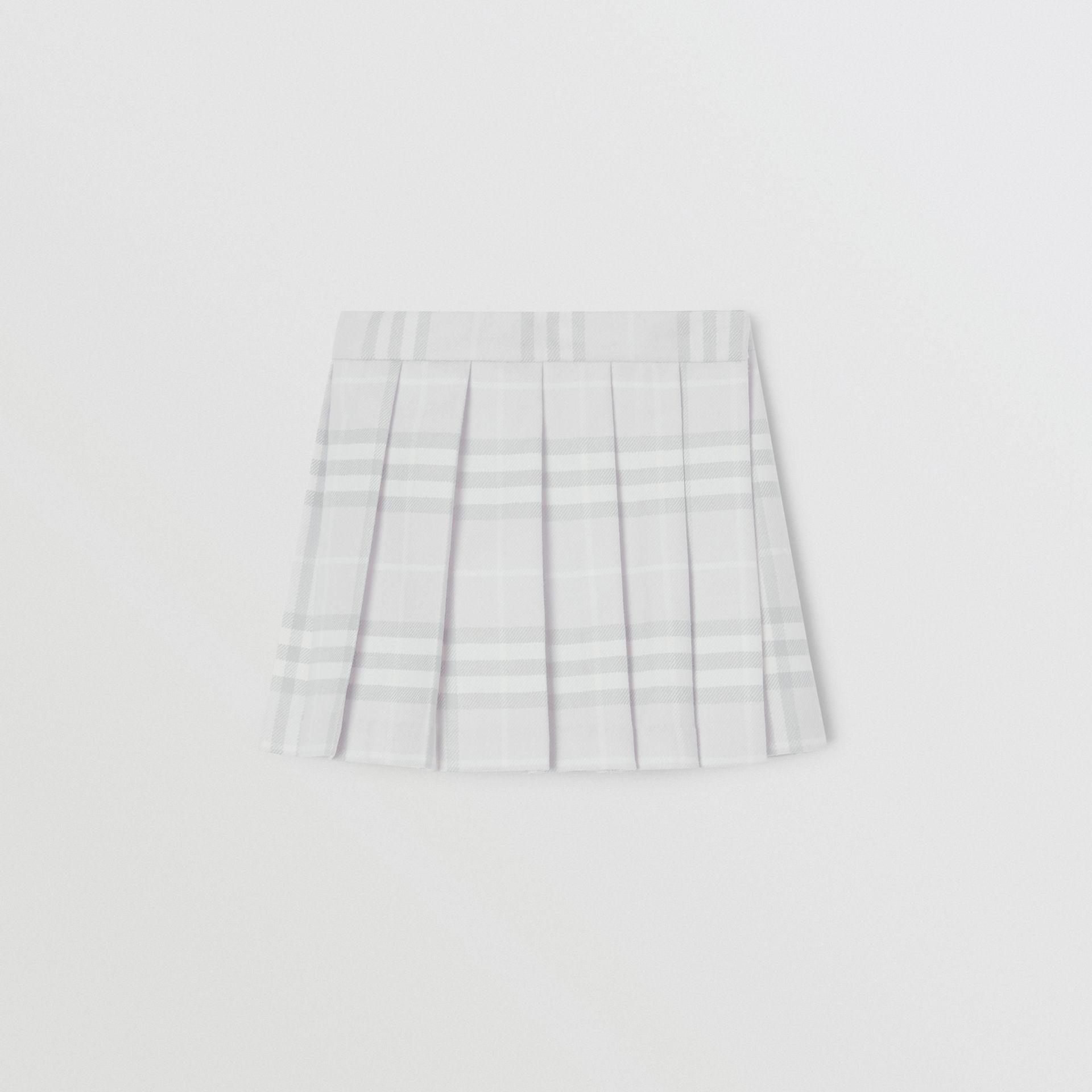 Vintage Check Wool Pleated Wrap Skirt in Pale Grey - Children | Burberry United Kingdom - gallery image 0