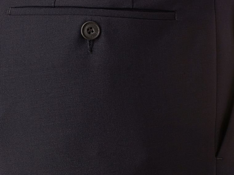 Slim Fit Wool Mohair Trousers in True Navy - Men | Burberry - cell image 1