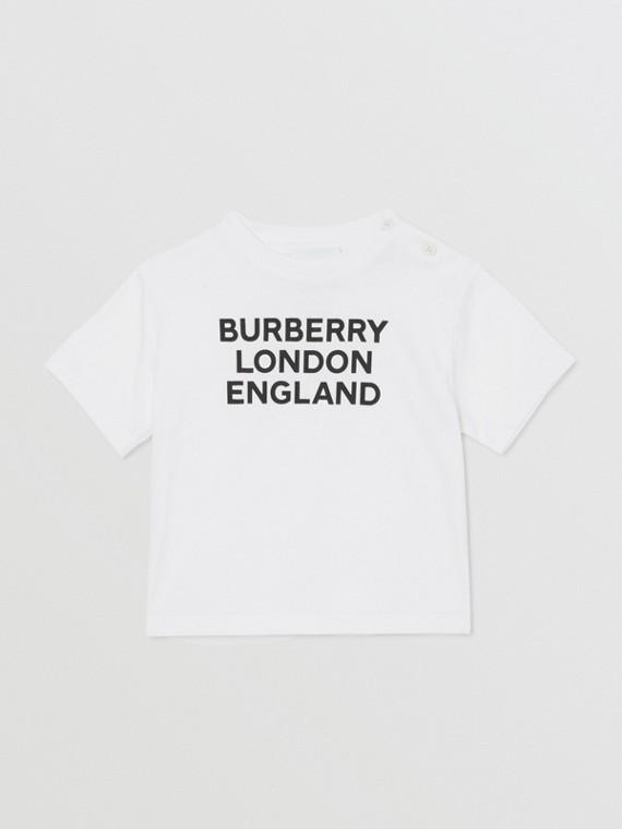 Logo Print Cotton T-shirt in White
