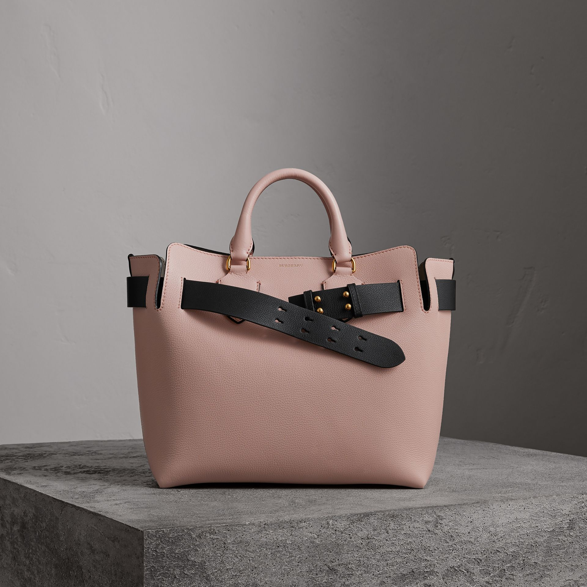 The Medium Leather Belt Bag in Pale Ash Rose - Women | Burberry - gallery image 0