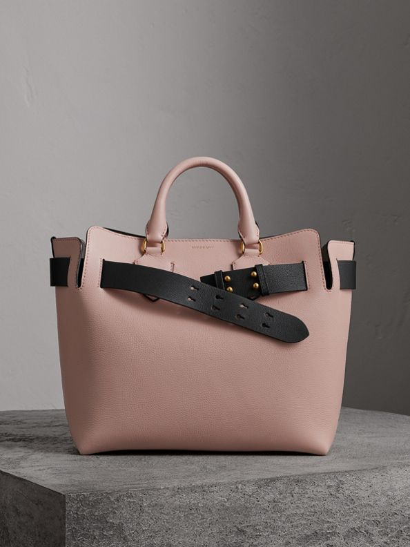 The Medium Leather Belt Bag in Pale Ash Rose