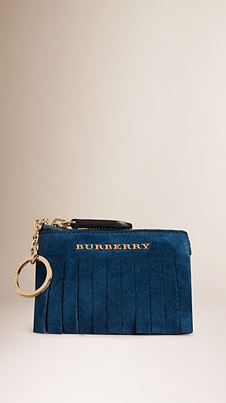 Fringed Suede Coin Wallet