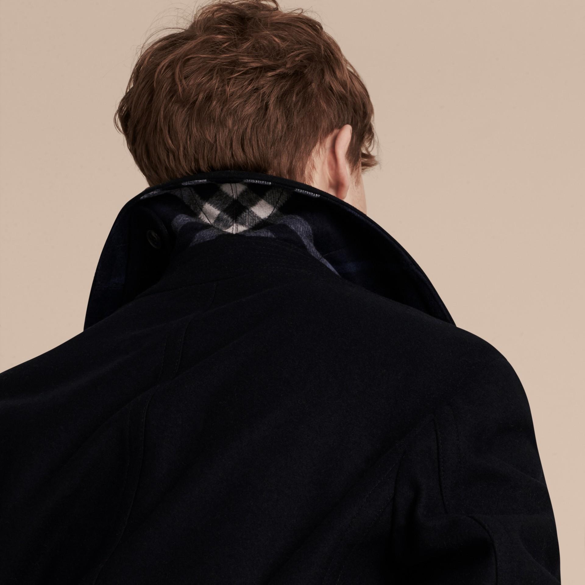 Navy Pea coat in lana e cashmere Navy - immagine della galleria 5