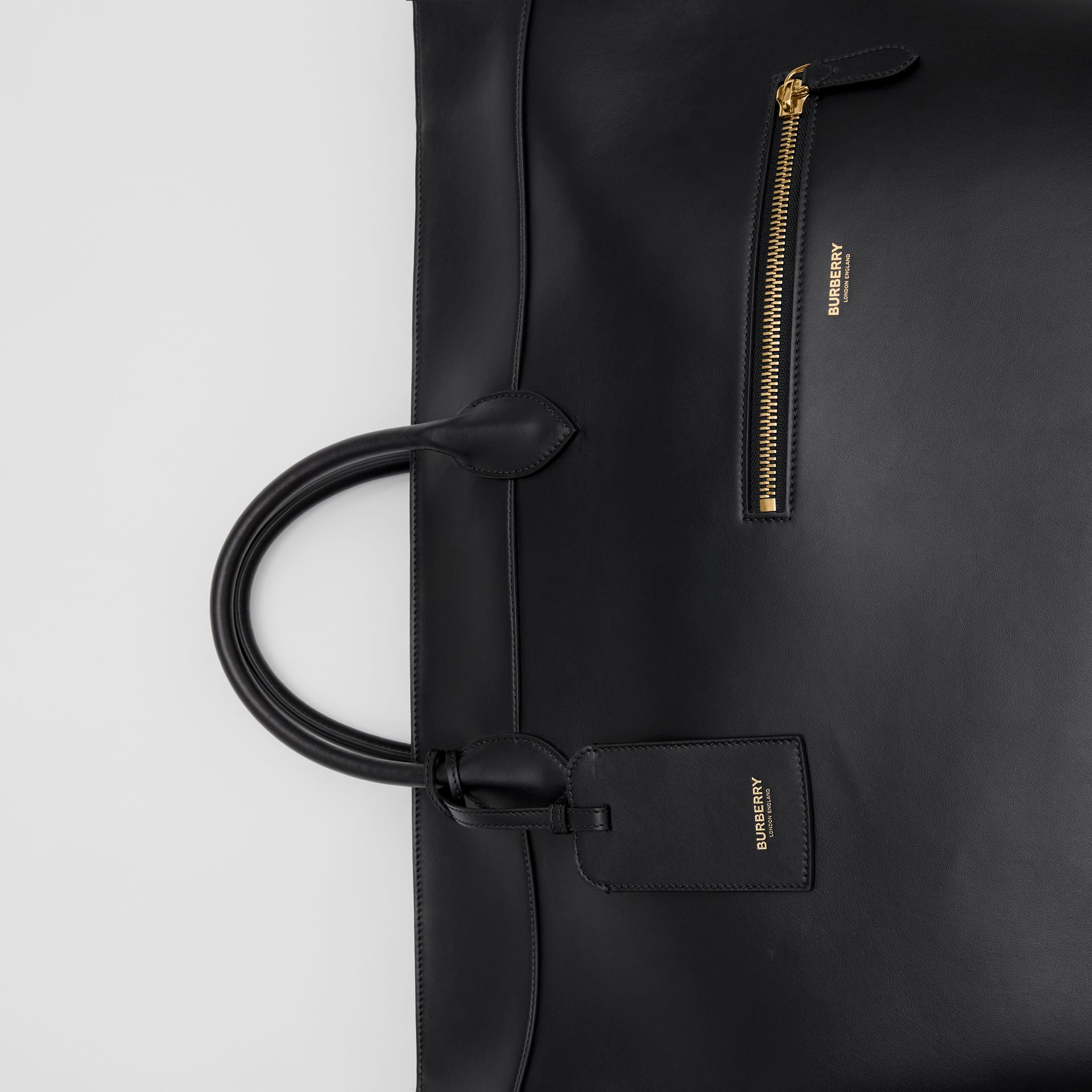 Extra Large Leather Society Top Handle Bag in Black - Men | Burberry - gallery image 6