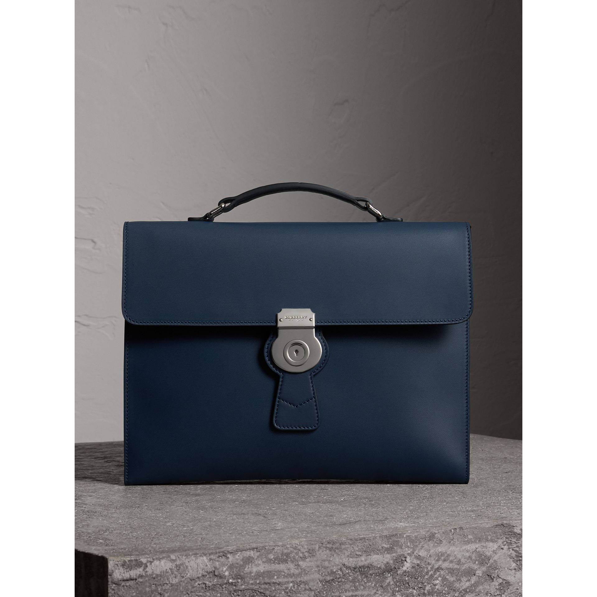 The Large DK88 Document Case in Ink Blue - Men | Burberry - gallery image 0