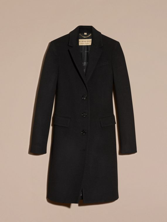 Wool Cashmere Tailored Coat in Black - cell image 3