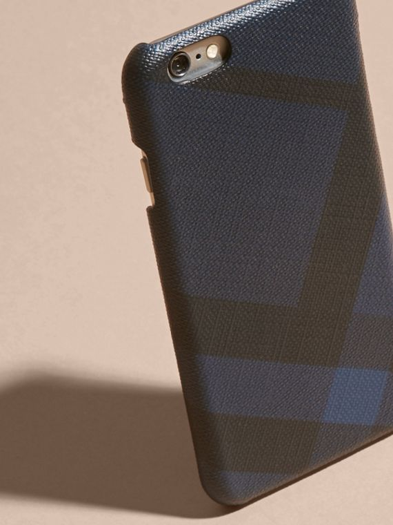 London Check iPhone 7 Case in Navy/black | Burberry - cell image 3