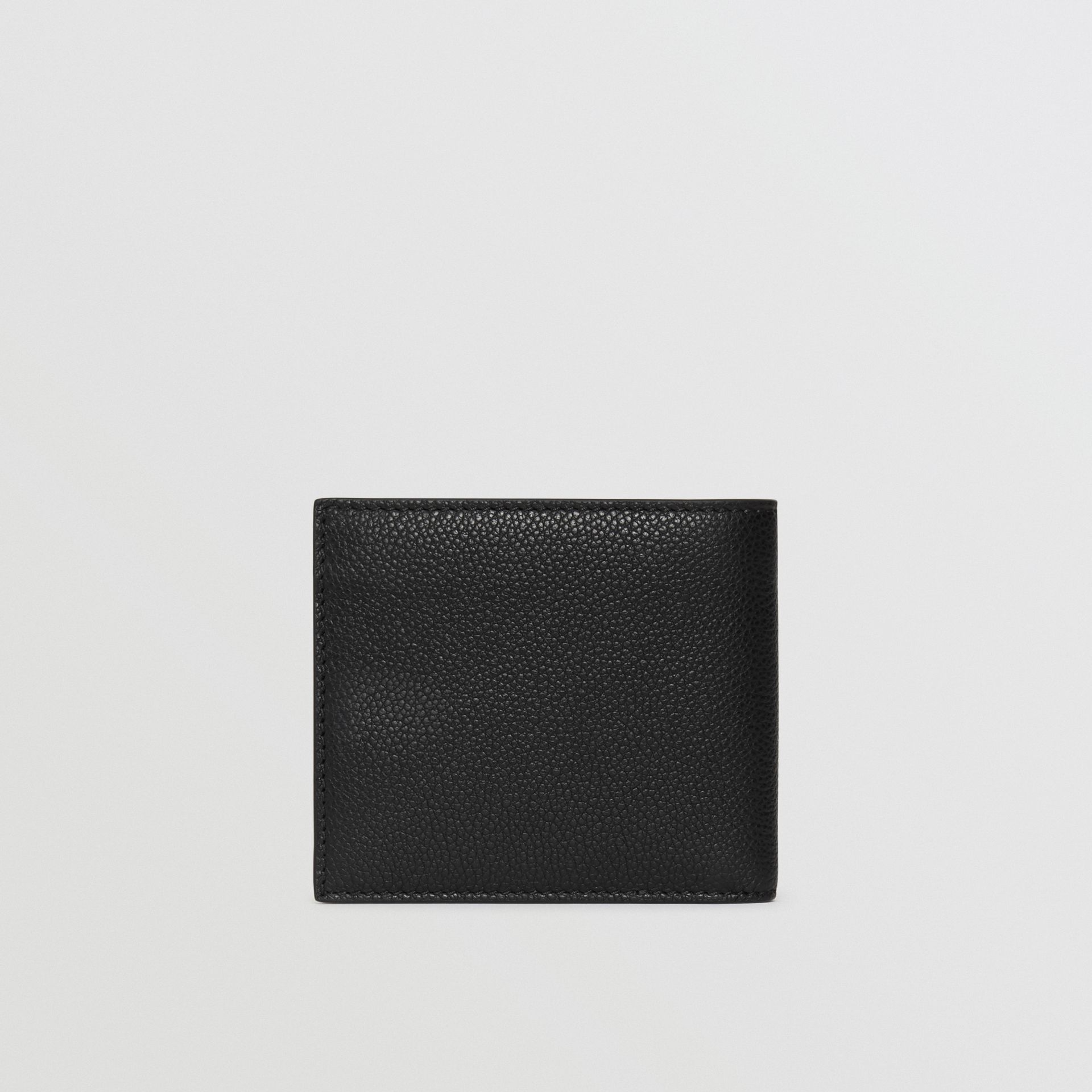 Grainy Leather International Bifold Wallet in Black - Men | Burberry Canada - gallery image 4