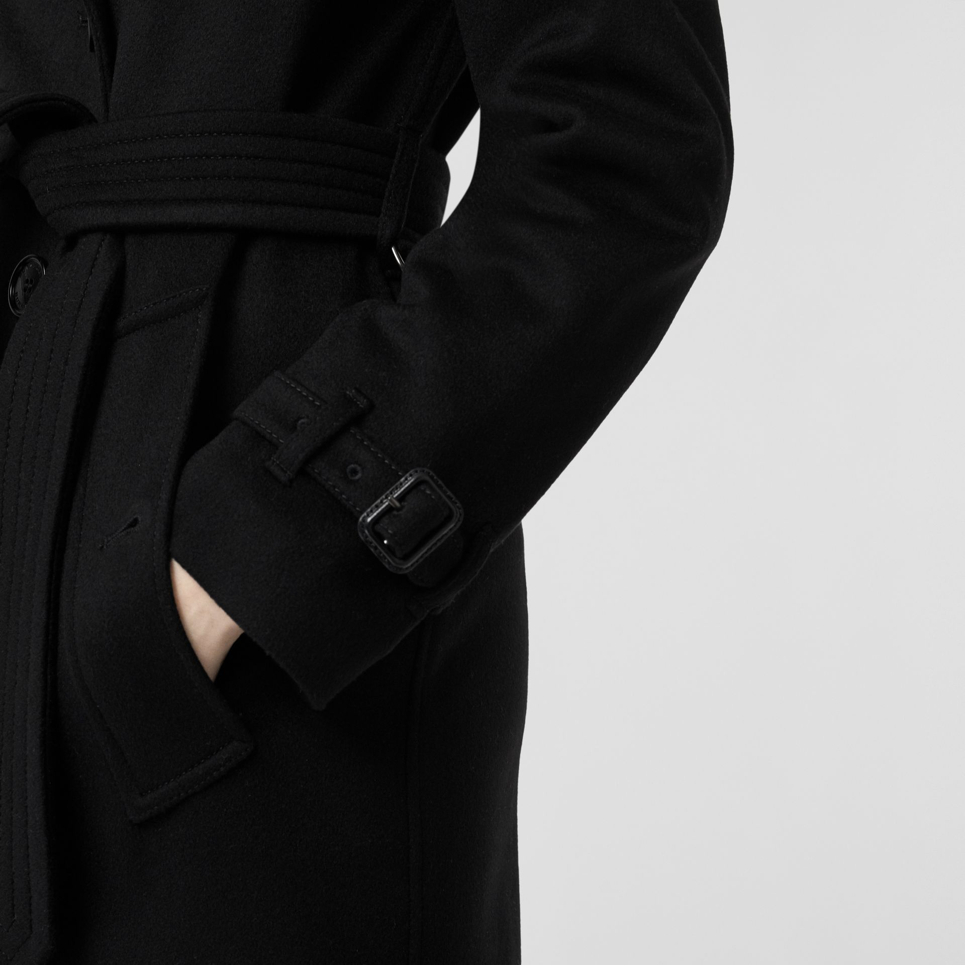Cashmere Trench Coat in Black - Women | Burberry United States - gallery image 4